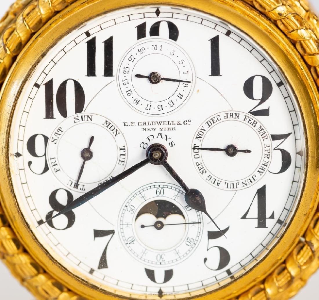 Gilt Bronze Table Clock, E. F. Caldwell - 2