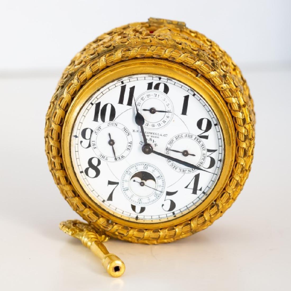 Gilt Bronze Table Clock, E. F. Caldwell - 5