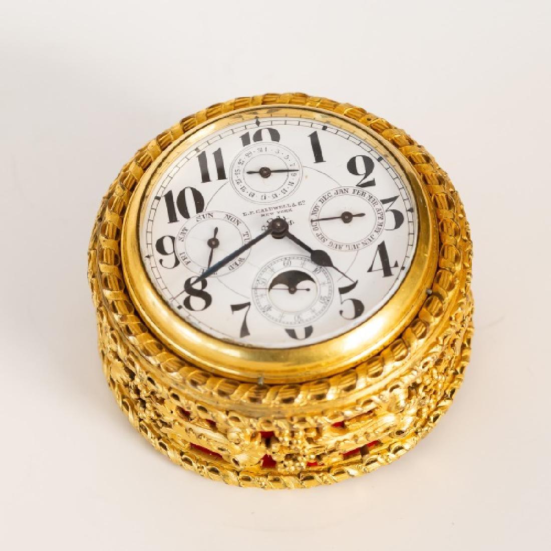 Gilt Bronze Table Clock, E. F. Caldwell - 6