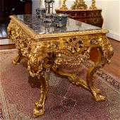 Magnificent Regence Style Giltwood Table