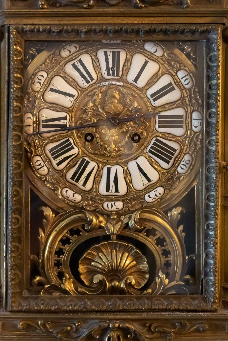 Lerolle Freres Monumental Gilt Bronze Cartel Clock - 3