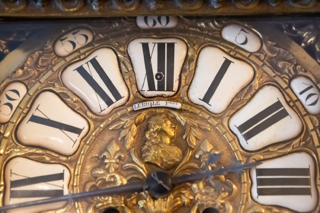 Lerolle Freres Monumental Gilt Bronze Cartel Clock - 4