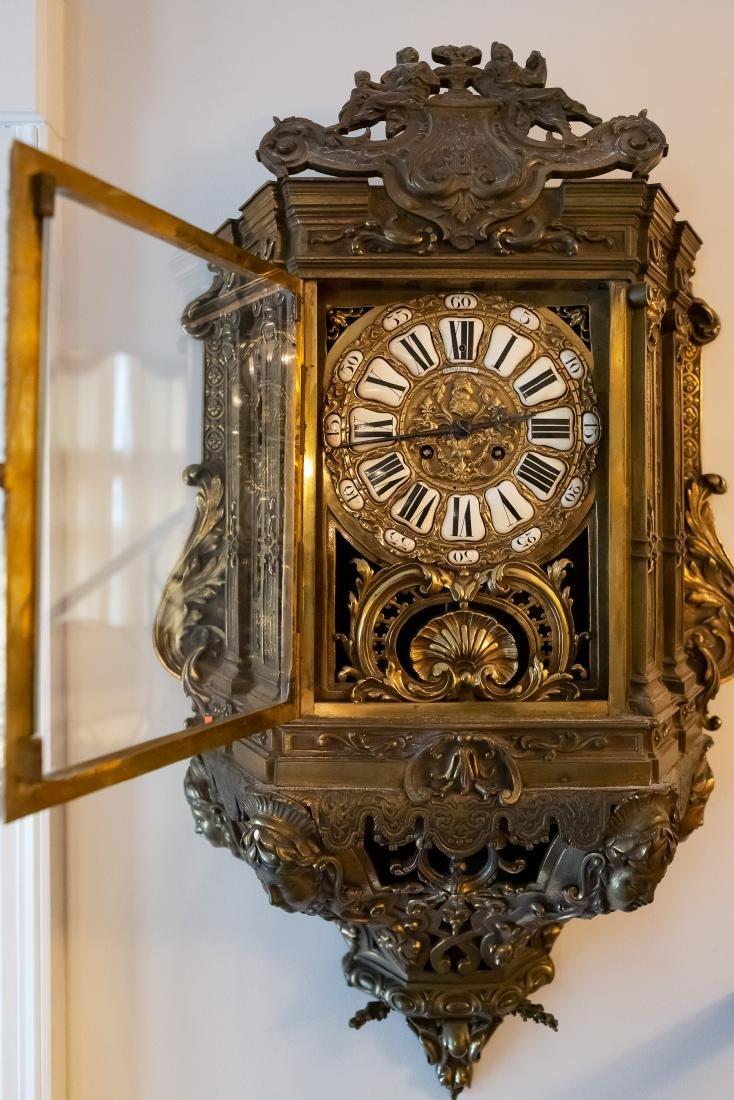 Lerolle Freres Monumental Gilt Bronze Cartel Clock - 5