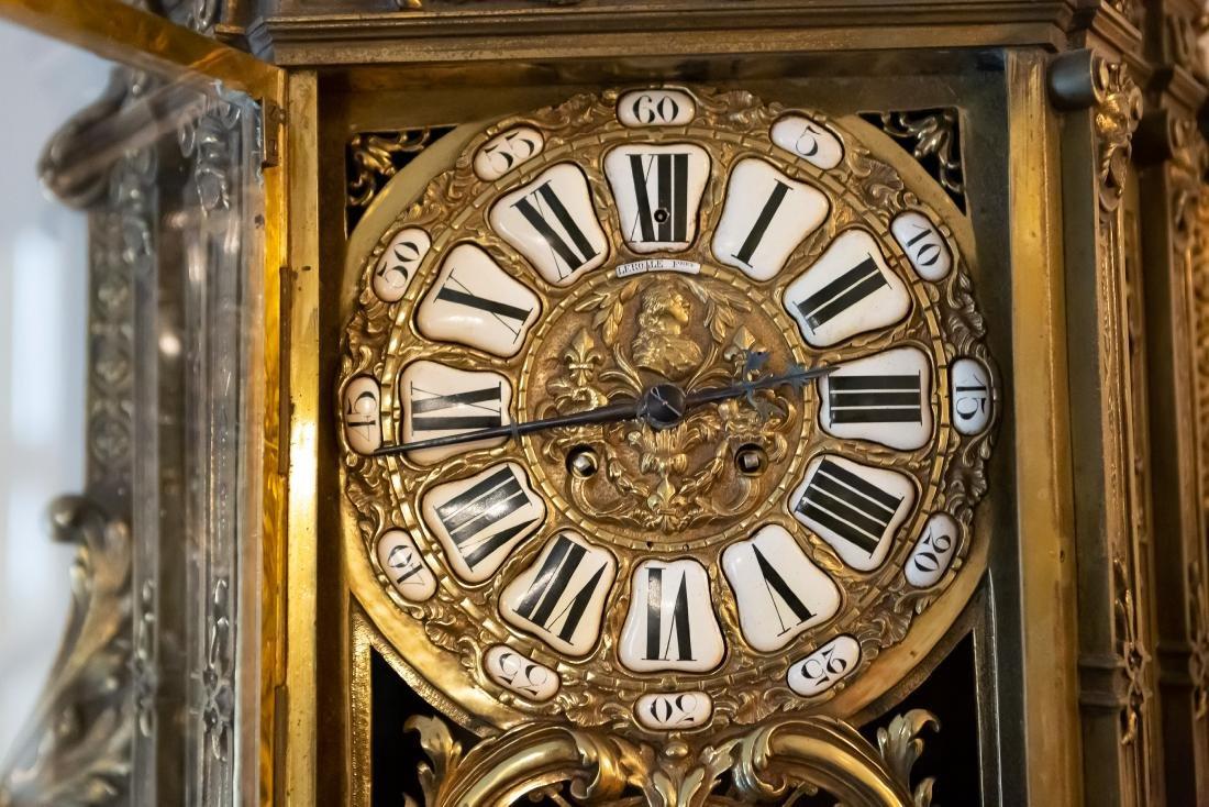 Lerolle Freres Monumental Gilt Bronze Cartel Clock - 6