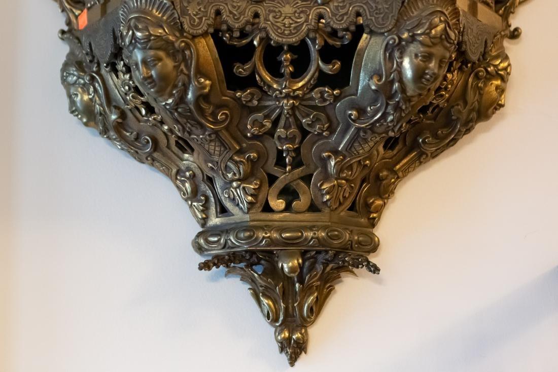 Lerolle Freres Monumental Gilt Bronze Cartel Clock - 8