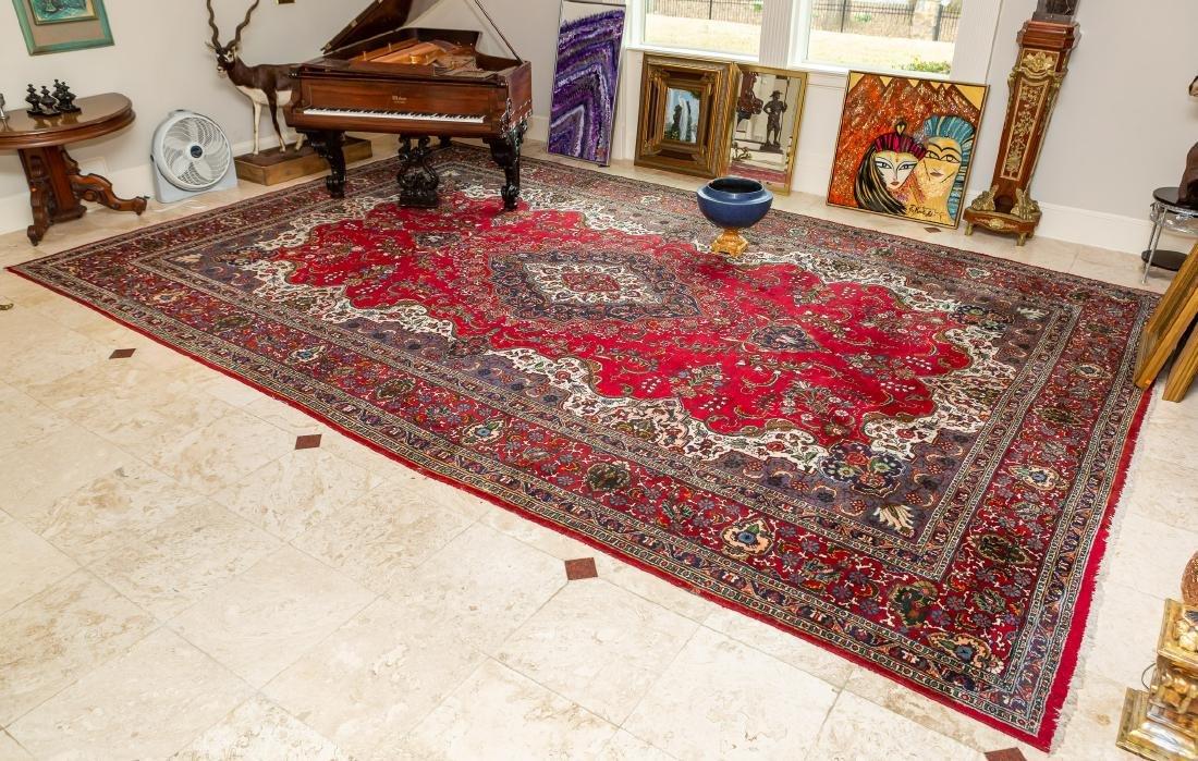 Room Size Tabriz Rug, 19' x 12.2'