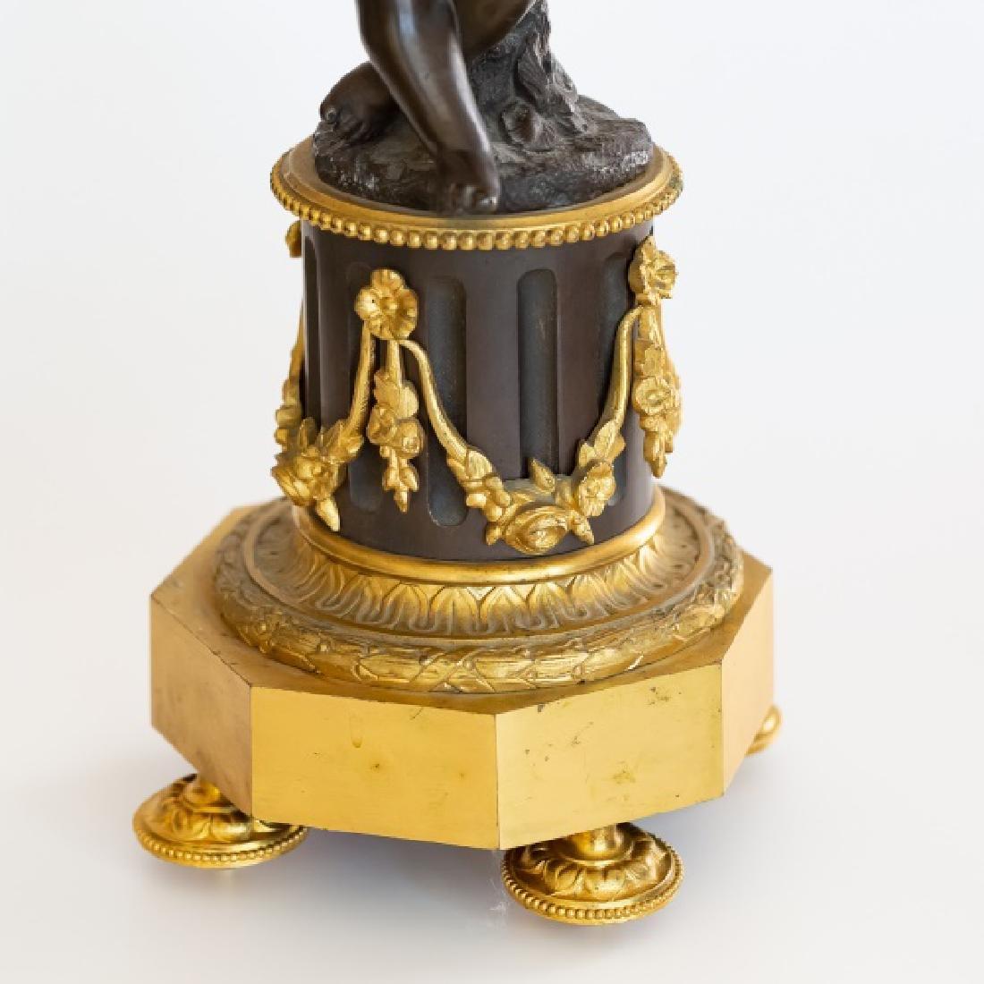 French Patinated & Gilt Bronze Figural Candelabra - 3
