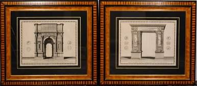 2 Joan Blaeu Large Architectural Arc Engravings