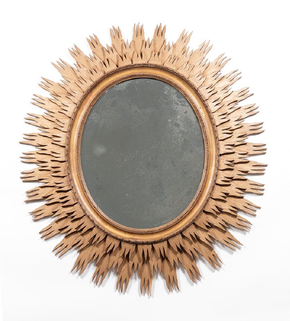 Oval Giltwood Sunburst Mirror