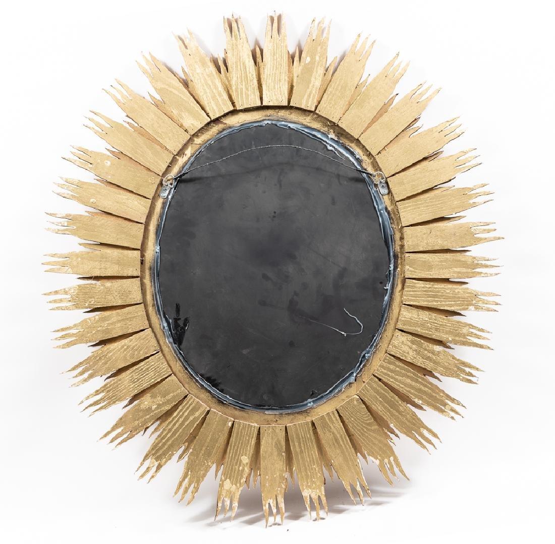 Oval Giltwood Sunburst Mirror - 2