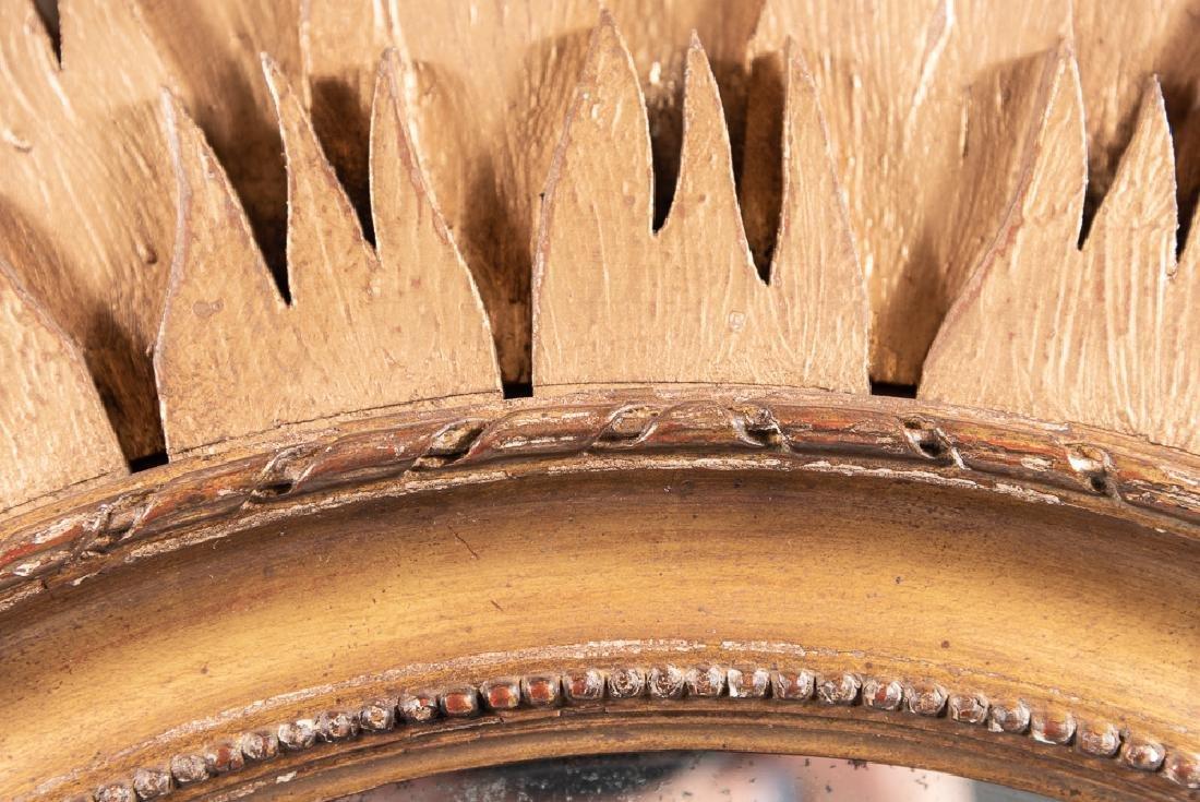 Oval Giltwood Sunburst Mirror - 5
