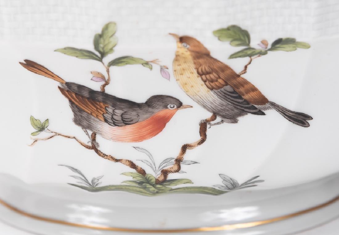 "Herend ""Rothschild Birds"" Lidded Tureen & Plate - 4"