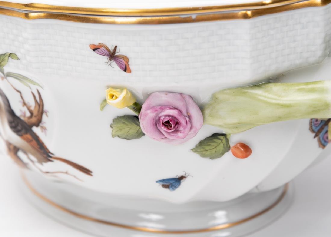 "Herend ""Rothschild Birds"" Lidded Tureen & Plate - 6"