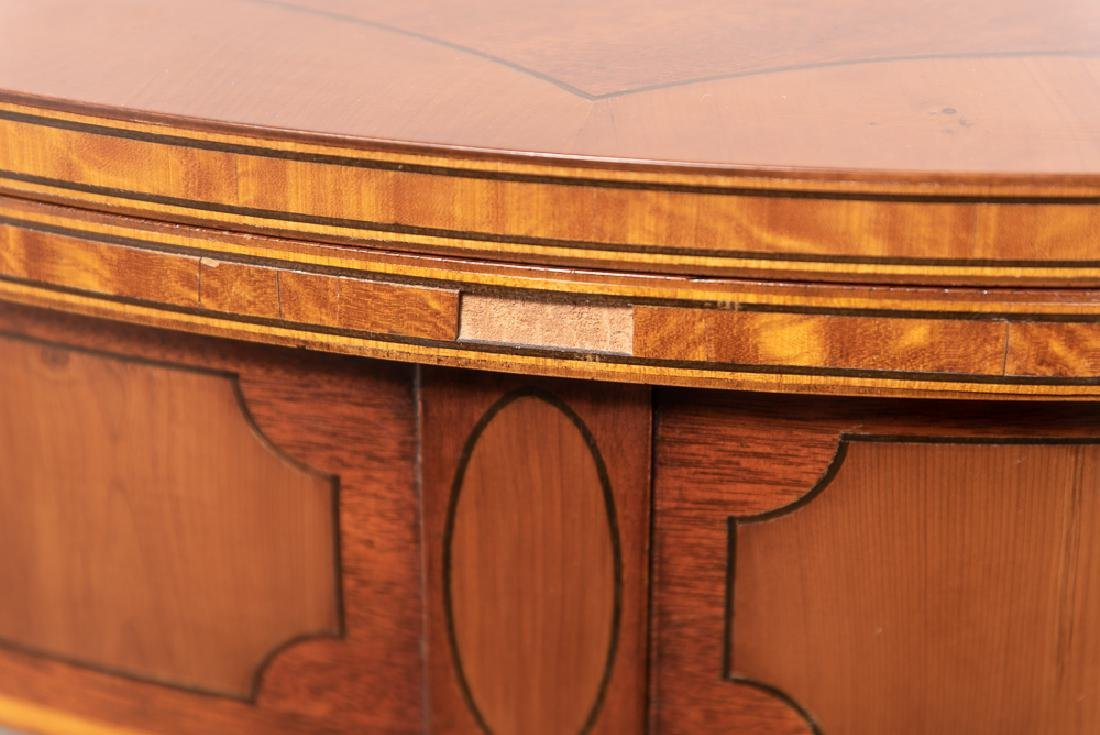 Pair, Inlaid Federal Style Demilune Games Tables - 6