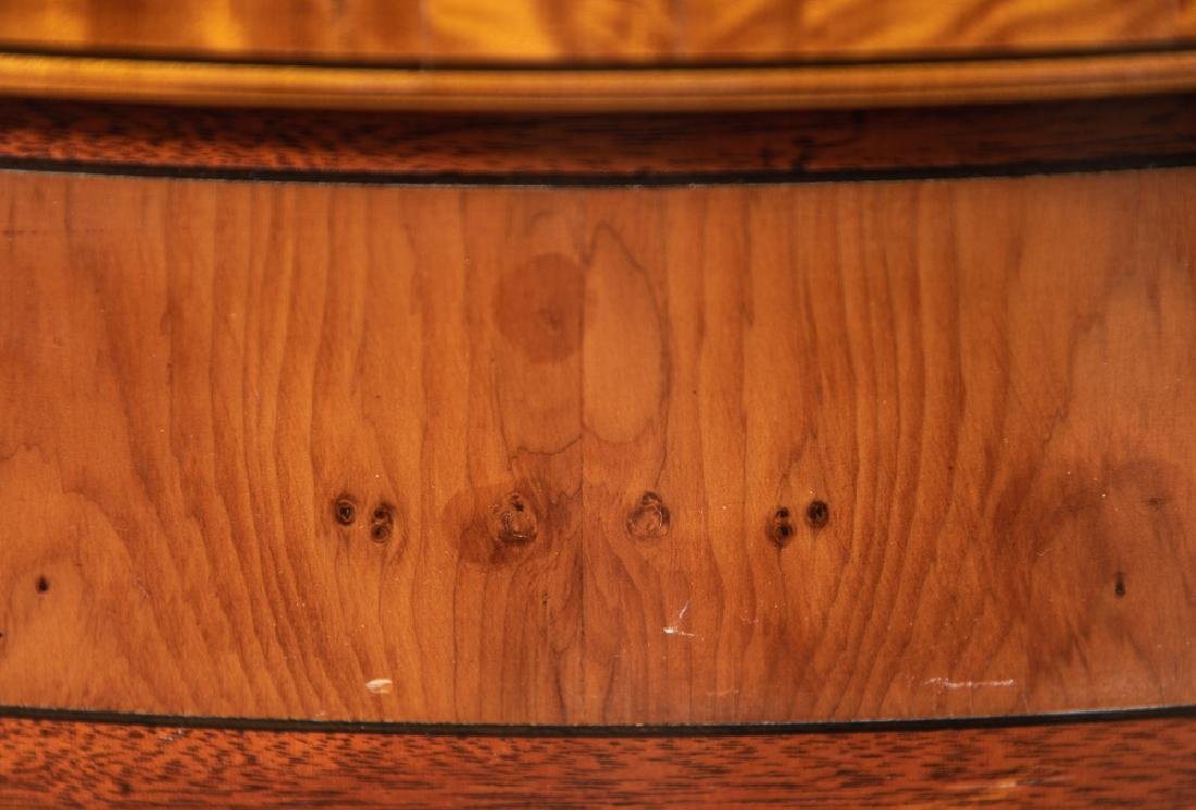 Pair, Inlaid Federal Style Demilune Games Tables - 7
