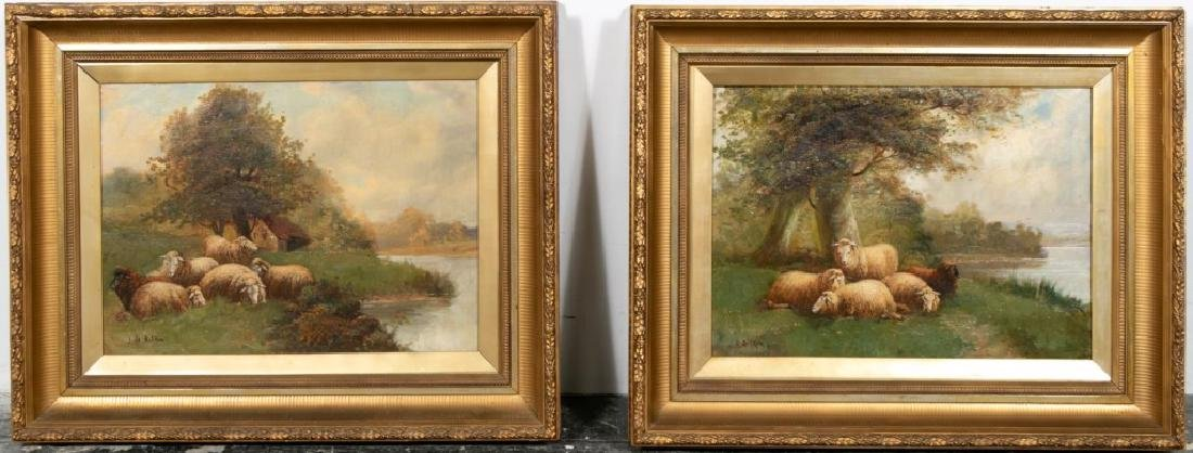 Pair, 19th C. British School Signed Pastoral O/C