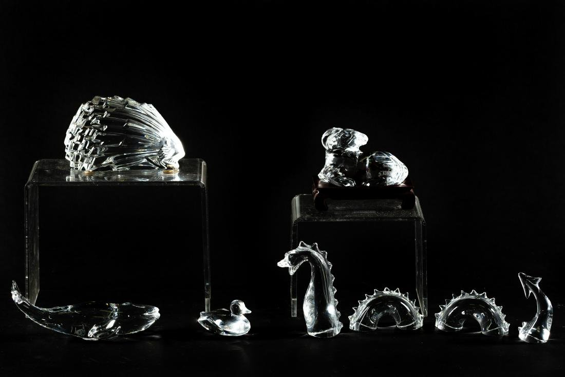 Five Baccarat Crystal Animal Paperweights