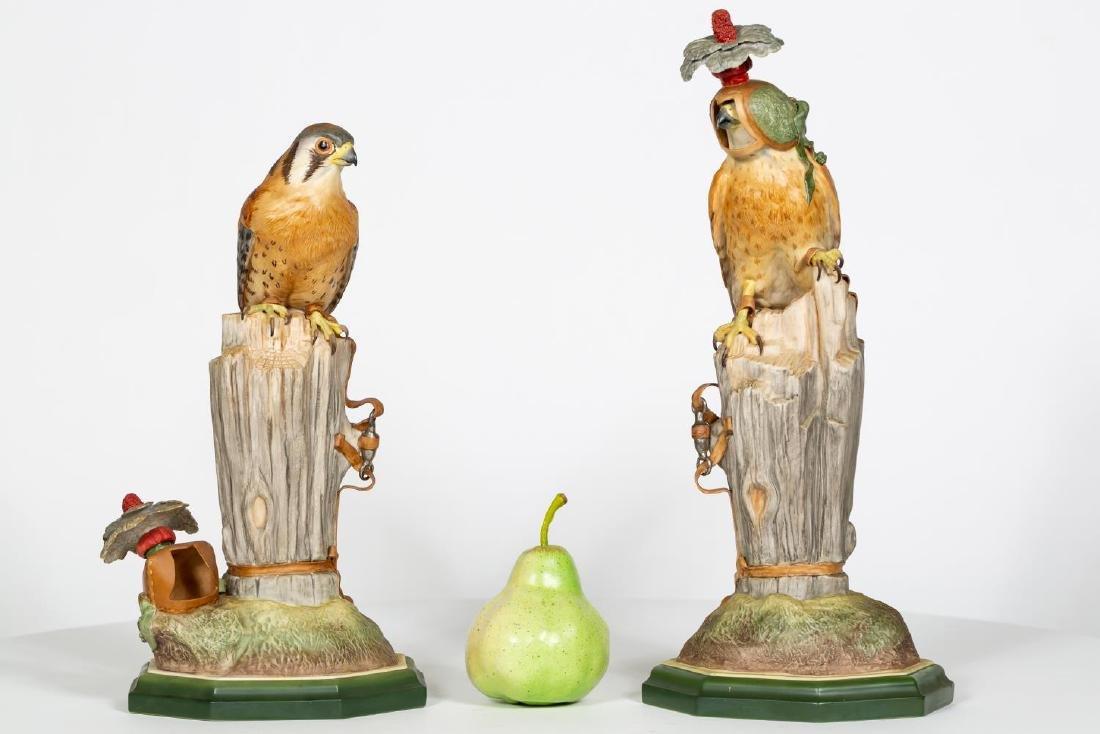 Boehm Porcelain Kestrels (492), One Hooded