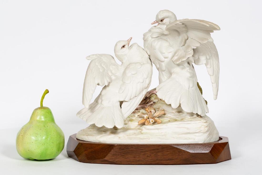 Cybis Figuerine, Bisque Procelain Turtle Doves