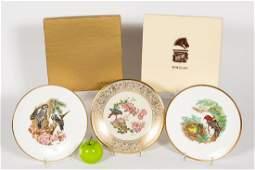 Three Boehm Porcelain Plates in Original Boxes