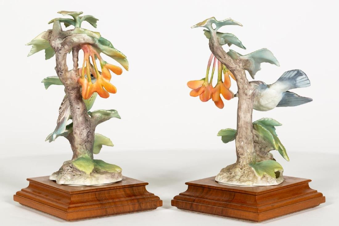 Pair of Doughty Cerulean Warbler & Maple Figures - 3