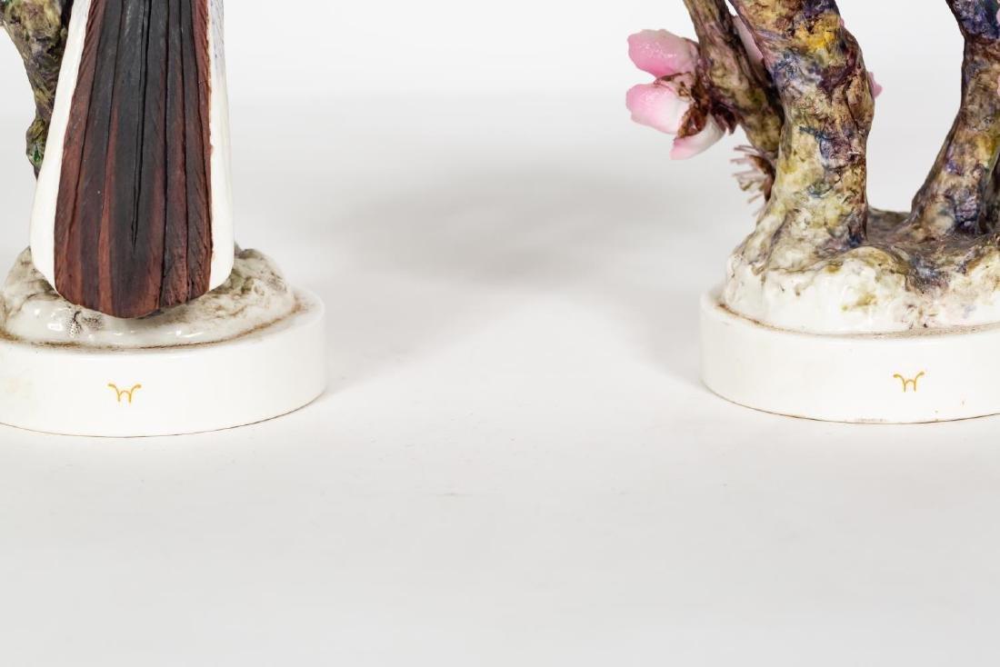 Pair, Doughty Mocking Bird Porcelain Figurines - 4