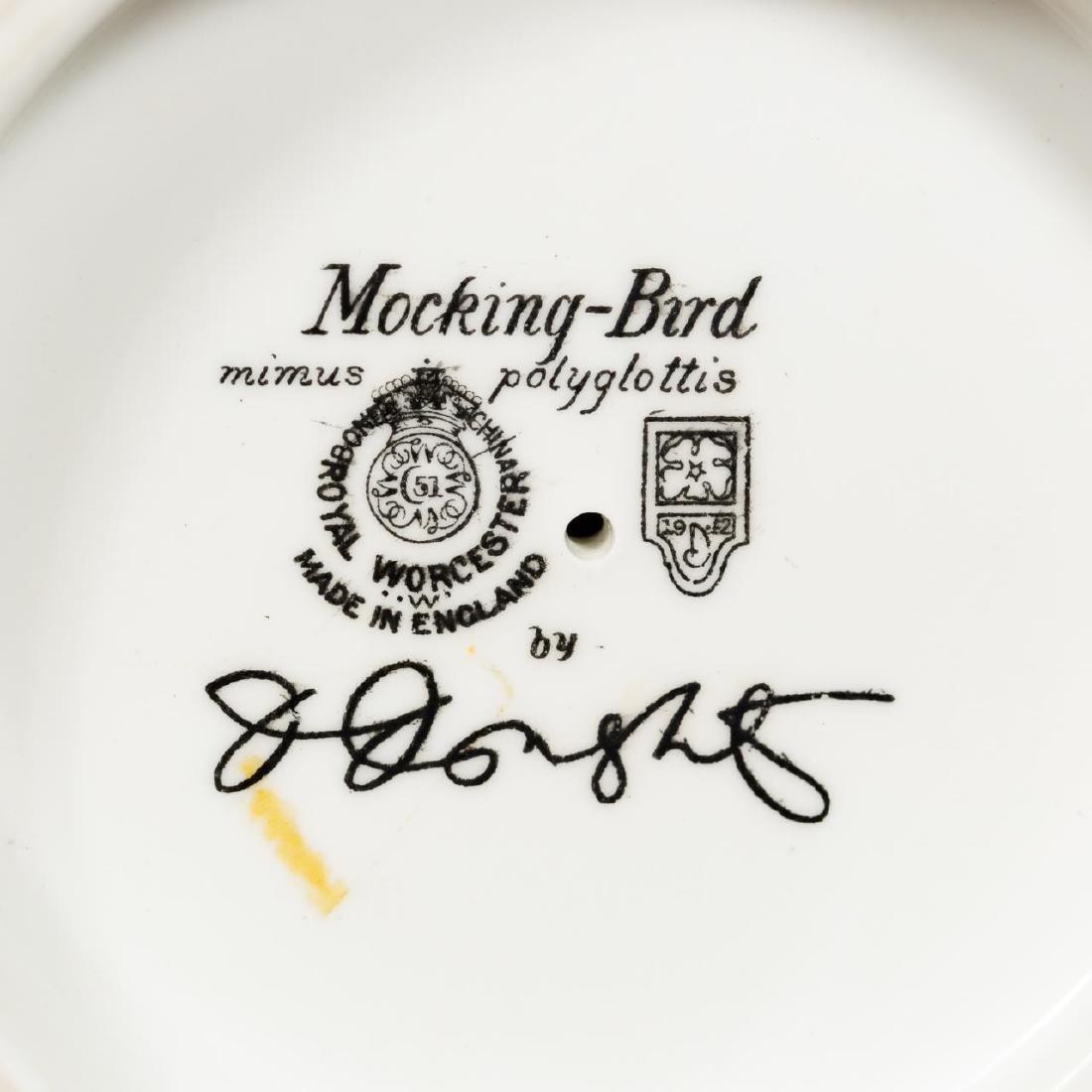 Pair, Doughty Mocking Bird Porcelain Figurines - 5