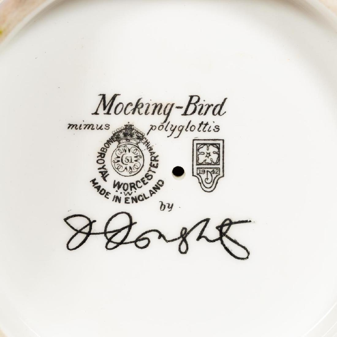 Pair, Doughty Mocking Bird Porcelain Figurines - 6