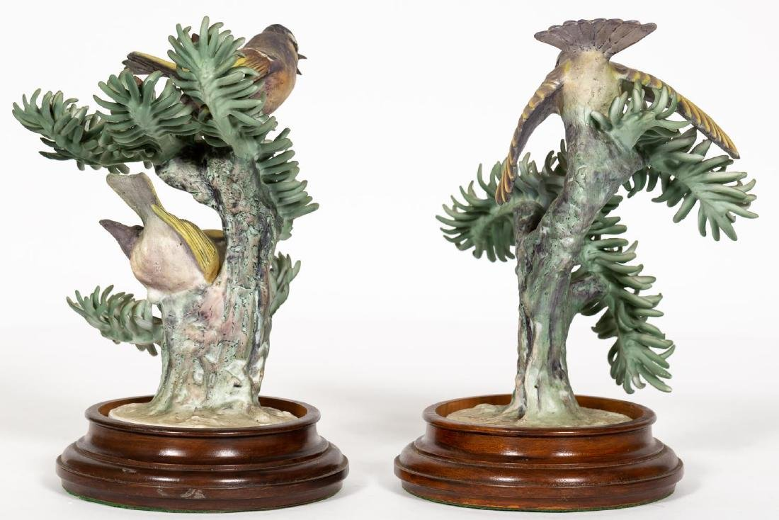 Pair, Doughty Golden Crown Kinglets on Stands - 3