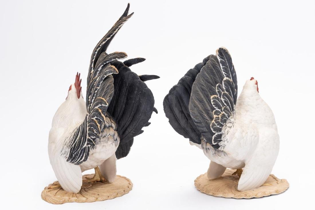 Pair, Boehm Black Tailed Bantam Figurines - 3