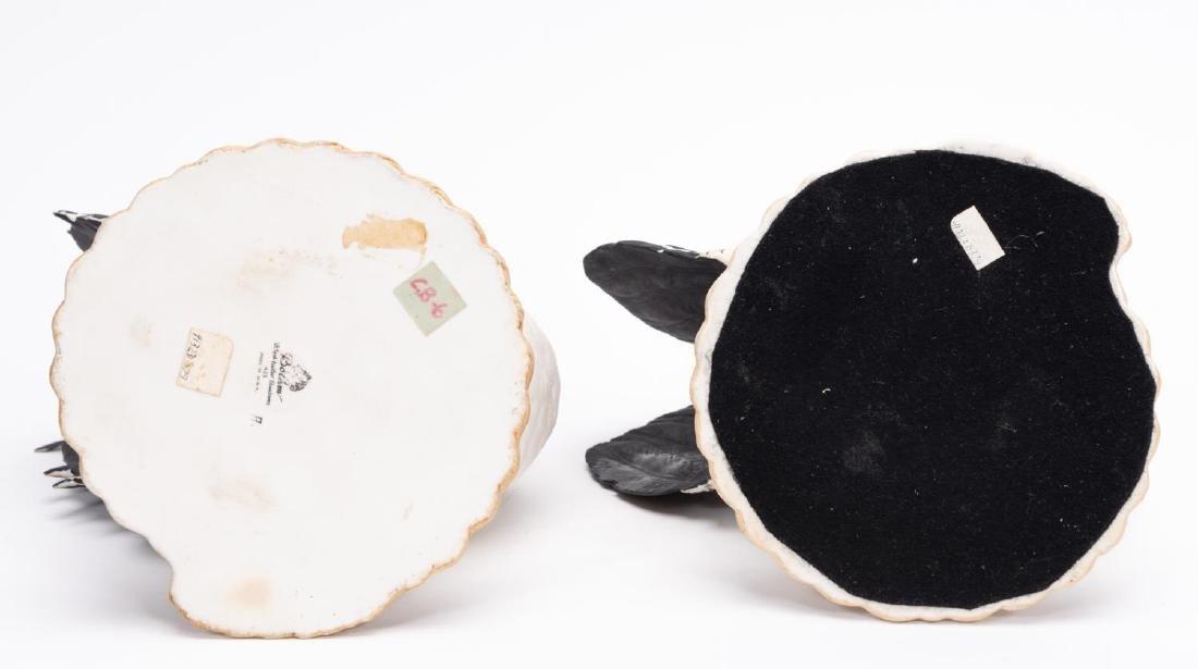 Pair, Boehm Black Tailed Bantam Figurines - 4