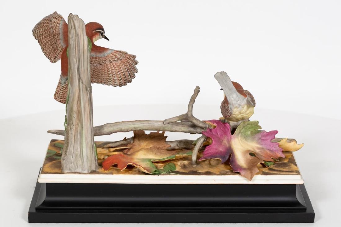 Boehm Carolina Wren Figurines on Black Base - 3