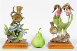 Pair, Doughty Oven Bird Porcelain Figures w/ Bases