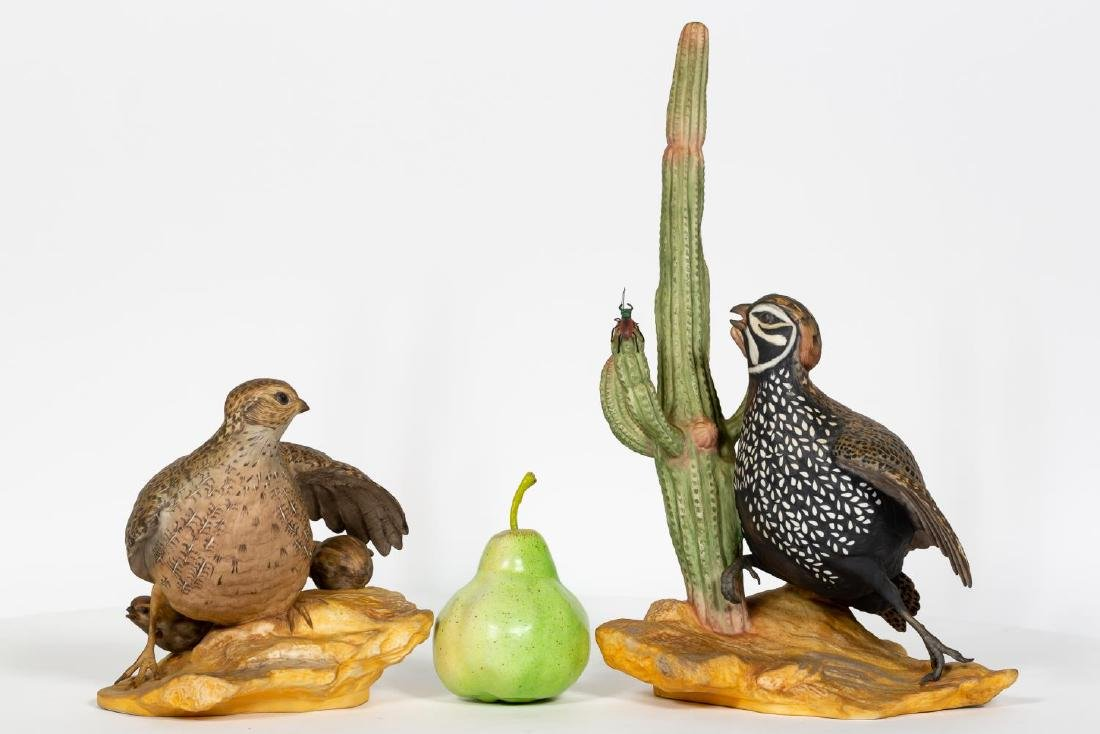 Pair of Boehm Mearns Quail Porcelain Figurines