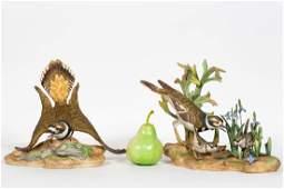 Pair of Boehm Kildeer Porcelain Bird Sculptures