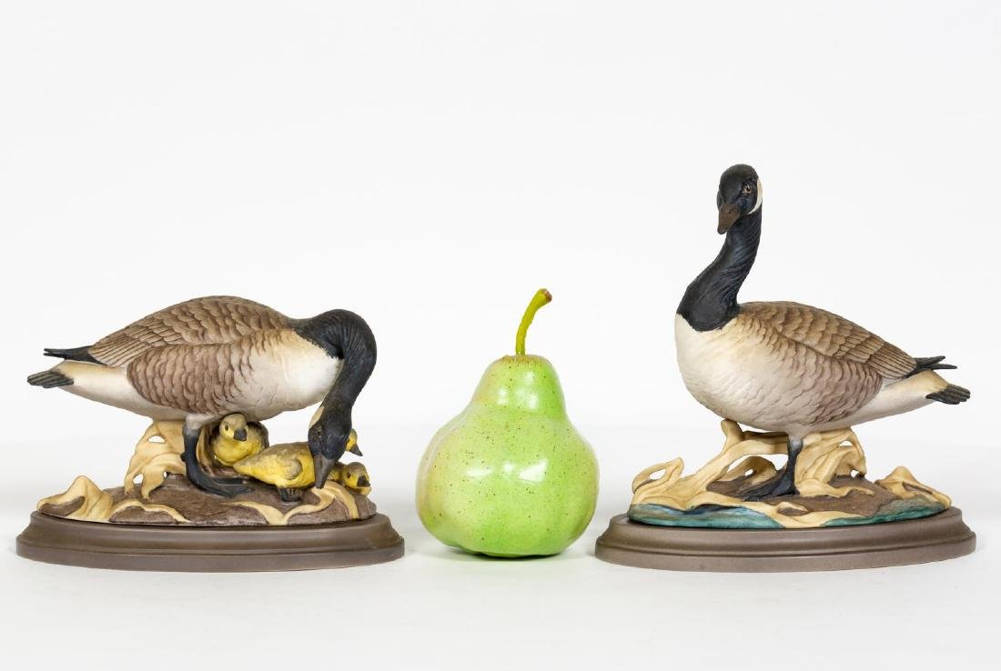 Pair, Boehm Canadian Geese Figurines on Bases