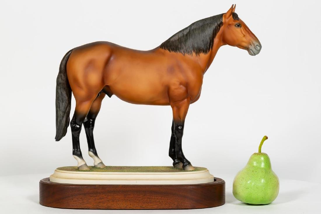 "Boehm Horse on Stand ""Adios"" Porcelain Figurine"