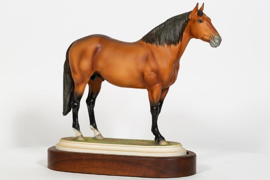 "Boehm Horse on Stand ""Adios"" Porcelain Figurine - 2"