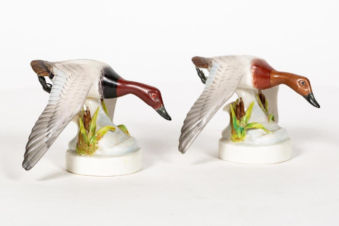 Two Boehm Porcelain Canvasback Ducks, Small - 4
