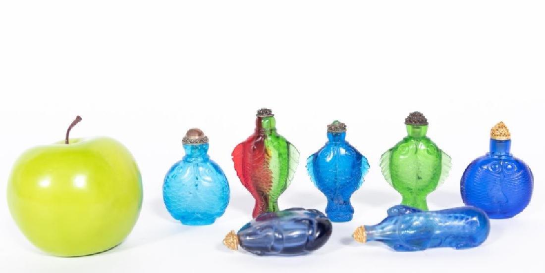 Seven Chinese Glass Animal Motif Snuff Bottles