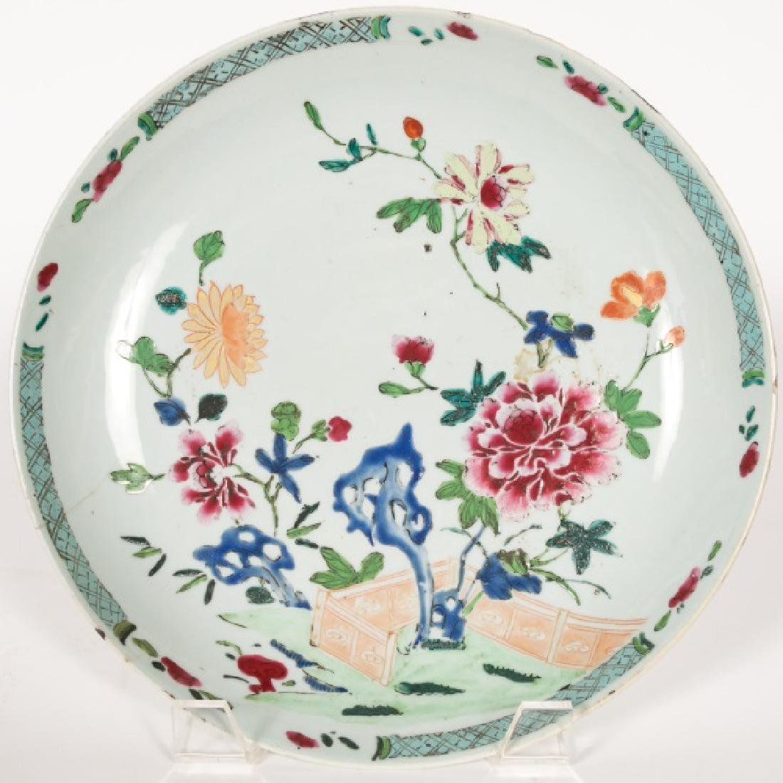 19th C. Chinese Charger with Flower Garden