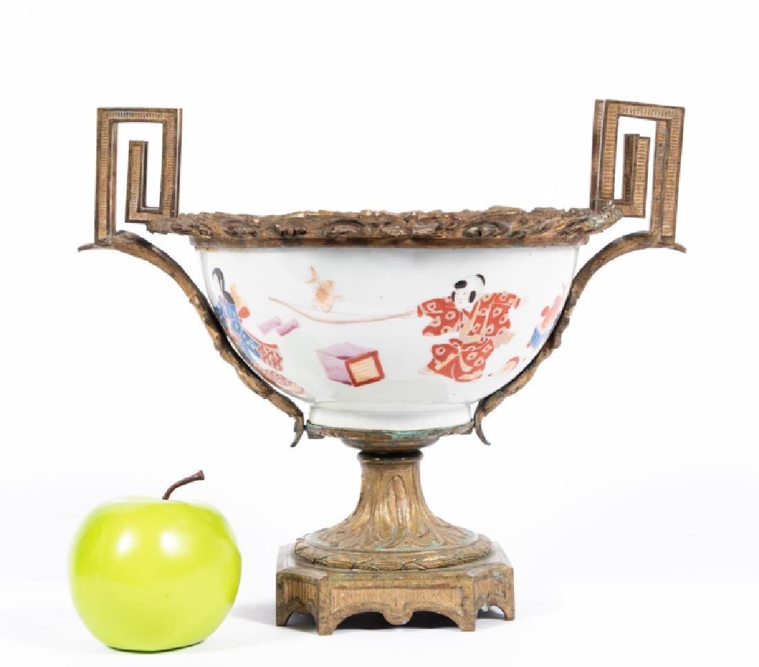19th C. Bronze Mounted Japanese Porcelain Bowl