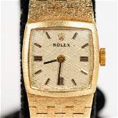 Ladies 14k Yellow Gold Rolex Wrist Watch