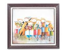 Joyce Roybal Signed Oil on Canvas Orchestra