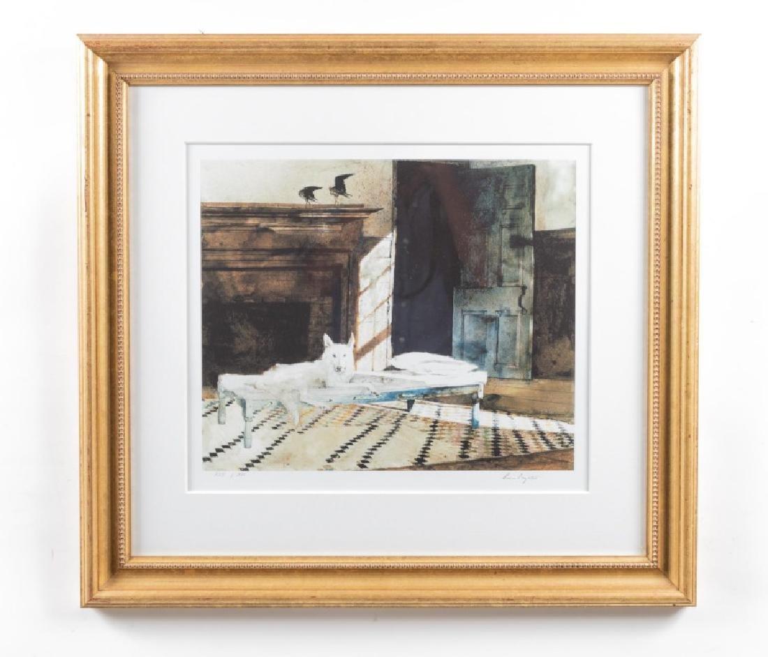 "Andrew Wyeth Ltd. Ed. Giclee Print, ""Sleeping Dog"""