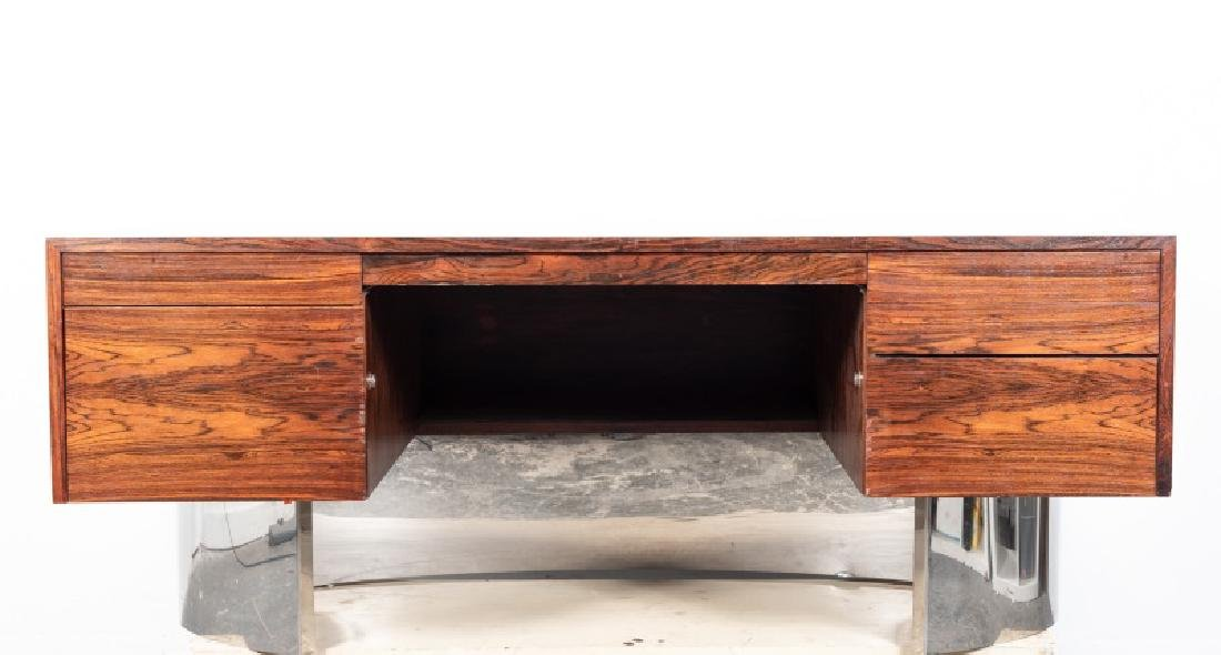 Mid-Century Danish Modern Executive Rosewood Desk