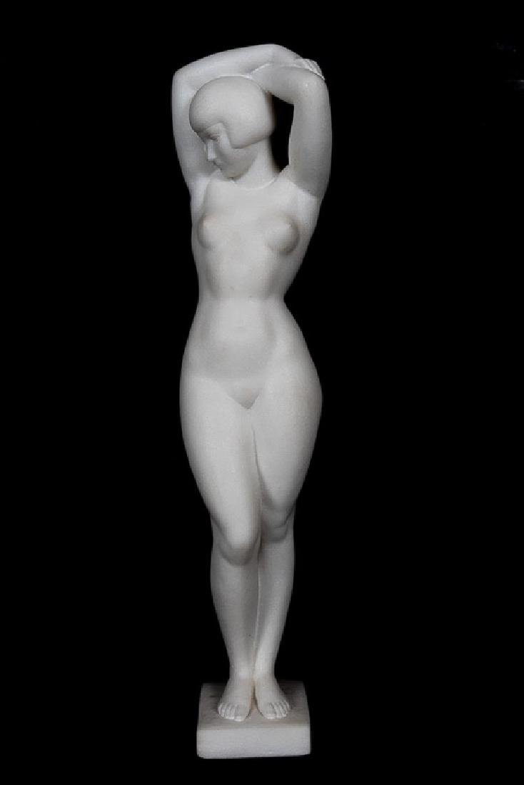 Cecil Howard Marble Sculpture of Lucy Krohg