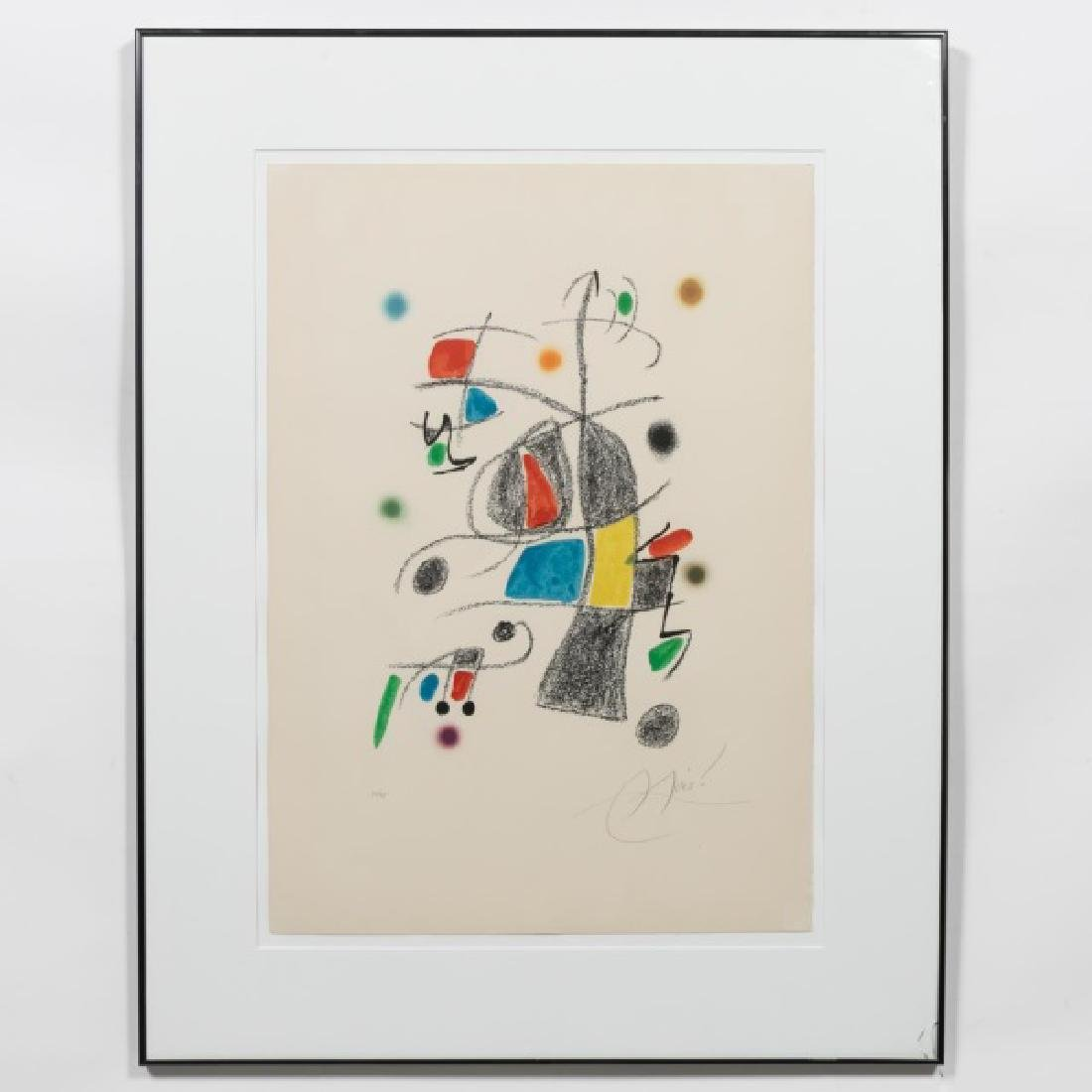 "Joan Miro Pencil Signed Litho, ""Maravillas..."""