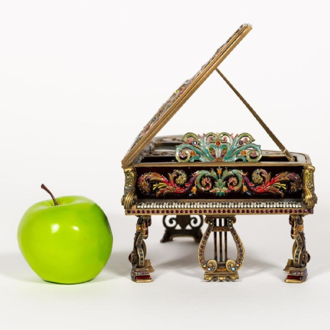 Jay Strongwater Enameled Piano Music Box 38/300