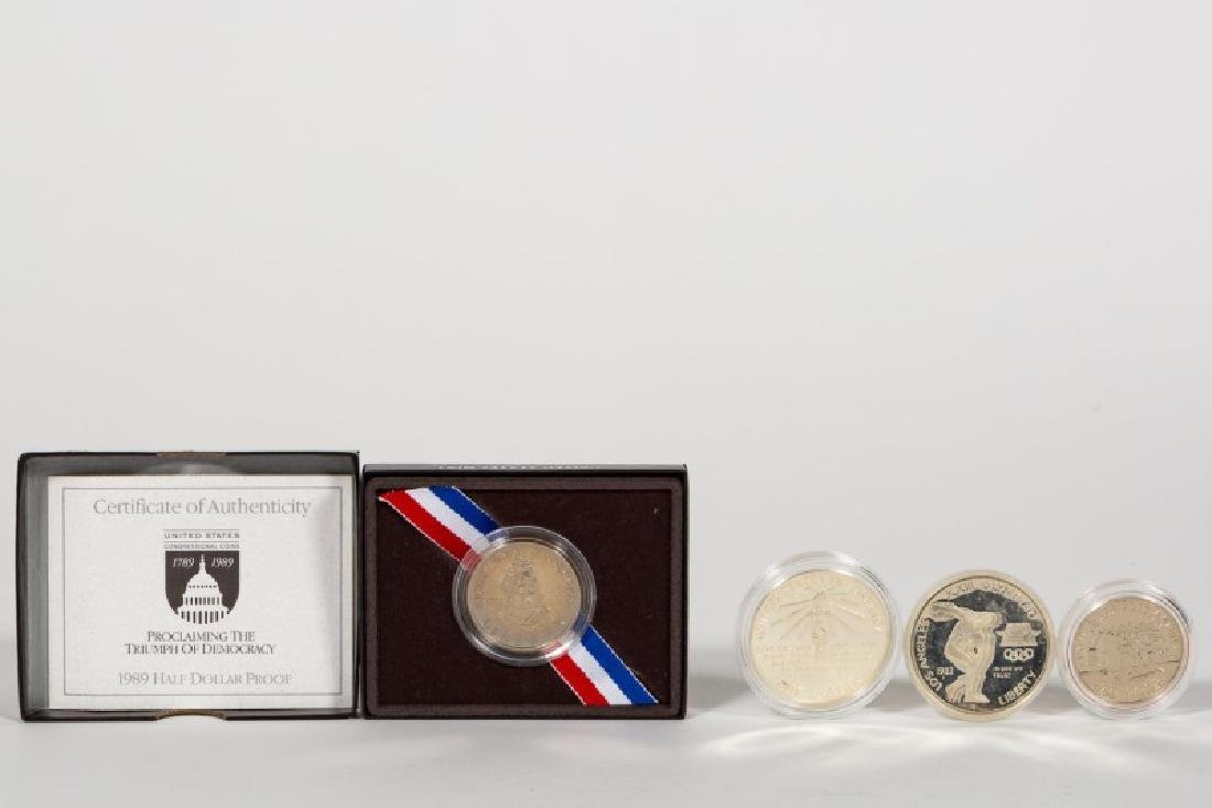 Four US Cased Commemorative Silver Coins